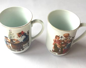 Norman Rockwell mugs The Toymaker and  For a Good Boy