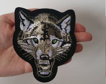 CLEARANCE! Growling Wolf Patch 1pc Sew On Iron On ! DIY Applique Embellishment Embroidery Logo Notion