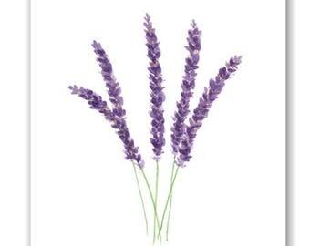 Printable Art, Lavender Print, Printable Lavender Art, Lavender Watercolor Painting, Printable Wall Art, Flower Art Print, Digital Download
