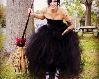 Black Lace Corset Wedding Dress Tulle Dress Prom Dress See Through Corset Wedding Dress Alternative Wedding Dress Steampunk Goth Convertible