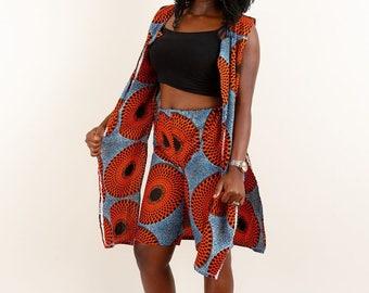 Ankara African Shorts and Jacket