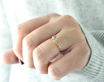 solid gold ring tourmaline pink engagement ring tourmaline ring wedding ring anniversary - Pink Wedding Ring