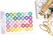 35 Plane Icon Stickers -Mini Sheets - Erin Condren Planner -  [#M0005]