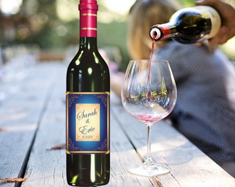 Wine Bottle Labels, Personalized Wedding Wine Bottle Labels, Custom Wine Bottle Labels, Printed Wine Bottle Labels