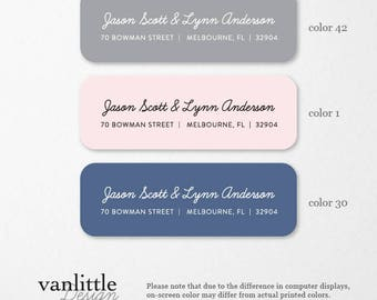 Personalized Return Address Labels with Two Full Names, Custom Self-Adhesive Labels, Address Stickers, Return Address, Return Labels, RAL43