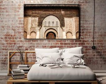Photography Print on Canvas - Moroccan Architecture - Marrakech - Maroc