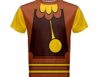Men's Cogsworth Beauty and the Beast Inspired Disneybound Shirt