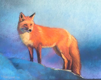 Original Painting of Red Fox Wildlife Art