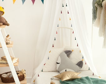 Premium Cotton Canopy Boho, Tent canopy, Bed Canopy, Crib Canopy, kids canopy, Play room canopy