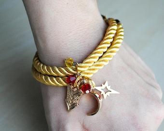 Lasso of Truth Charm Bracelet -- Wonder Woman Collection -- Diana Prince - Wonder Woman Necklace - Fandom Fashion - Geek Jewelry