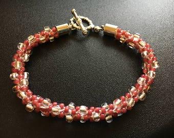 Rose Kumihimo Bracelet