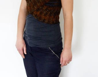Crochet Pattern - Oxide Crossed Shrug/Ombre Vest/ Ribbed Wrap/ V Neck Sleeveless Top