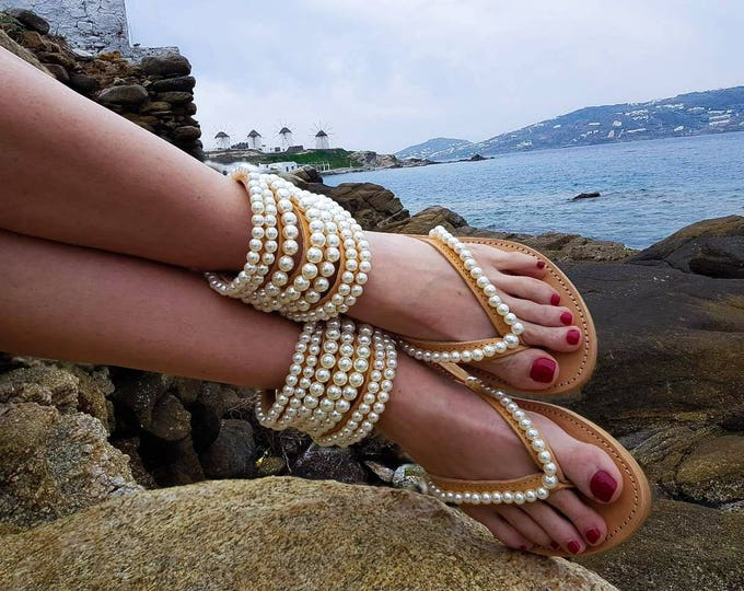 DHL FREE gladiators ,Greek sandals,Bohemian sandals,women shoes,pearl sandals,leather sandals,summer shoes,strappy sandals,pearls,boho
