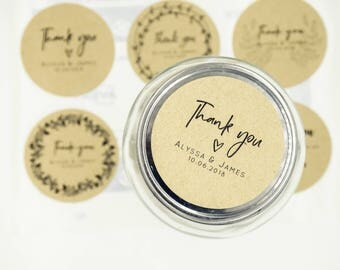 Wedding Stickers - Customised Labels for Wedding Favours