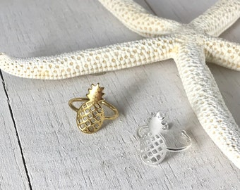 Pineapple Ring- Gold Pineapple Ring, Silver Pineapple Ring, Dainty Ring, Tropical Jewelry