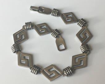 Southwestern sterling silver bracelet, 925 Native American style bracelet