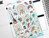 """Collection DECO - """"Festival Vibes"""" Collection Decorative Stickers - Decorative Planner Stickers"""