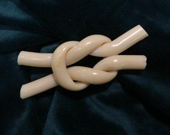 Antique Bakelite Large Knot Brooch