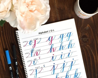 Intro to Brush Lettering Workbook - Instant Download