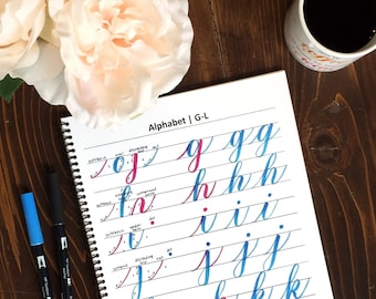 Intro to Brush Lettering Workbook Versions 1.0 AND 2.0 - Instant Download