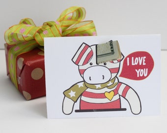 I Love You Card and Anniversary Card, Printable I love you card, Digital download card, Card for Valentine's Day