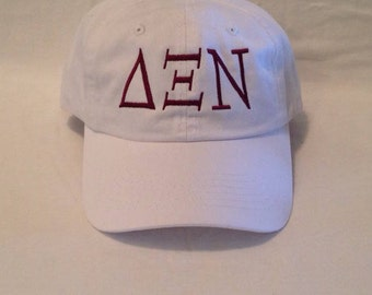 Greek Letter Embroidered Hat / Sorority Hat / Fraternity Hat / Embroidered Hat / Baseball Hat / Spirit Hat