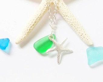 Necklace Sea Glass Beach Glass Jewelry Sea Glass Necklace Mermaid Jewelry Beach Wedding Jewelry Beach Bridesmaid Necklace- Sea Glass Pedant