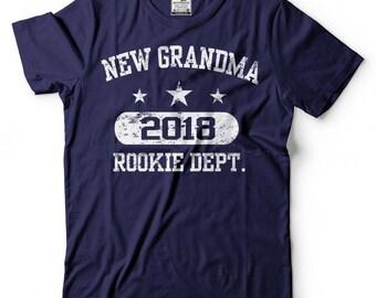 Grandmother T-Shirt New Grandma 2018 Tee Shirt Birth Announcement Tee Shirt
