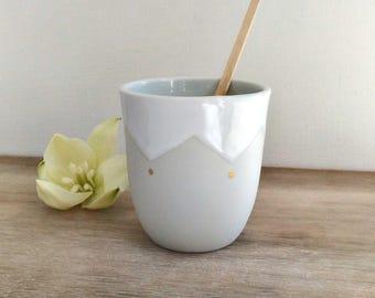 Porcelain cup & gold