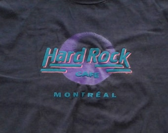 Vintage 80's / 90's Hard Rock Cafe Montreal t-shirt Made in Canada XL