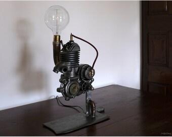 Vintage handmade steampunk lamp