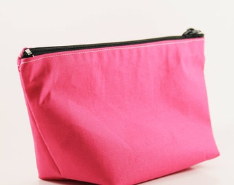 Make up bag; Cosmetic bag; Zippered pouch; Small travel pouch; Toiletry Bag; Gift for her; Zip Pouch