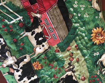 Farm Themed Baby Quilt for Boy or Girl.