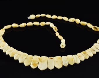 White Amber Choker, Baltic Amber Choker, White Choker, Wedding Choker, Baltic Amber Jewellery, Royal White Amber,