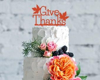 Thanksgiving cake topper, holidays celebration, thanksgiving gift party, give thanks, Celebration time, holidays cake topper