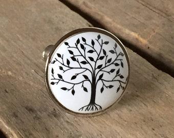 Small Tree of Life Drawer Knob, Farmhouse-Style Drawer Pull, Decorative Ceramic Knob, Farmhouse 11 TREE