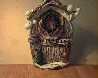 CHRISTMAS FAIRY DOOR clay handpainted