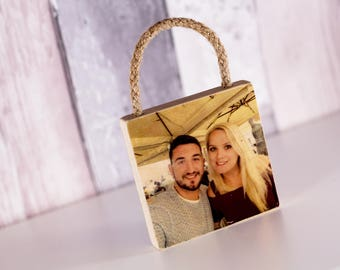 Freestanding Wooden Photo Block, 4x4'', Personalised Gift, Photo Transfer, Image Transfer, Pictures on Wood, Keepsake, Photo Gifts