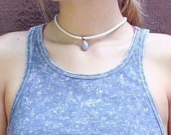 Purple Teardrop Choker