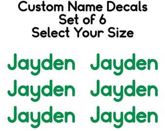 Personalized Name Decals, Set of Name Labels, School Supply Decals, Kids Name Decals, Custom Name Decals, Back to School Name Labels