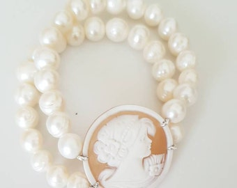 Pearl Bracelet and Cameo