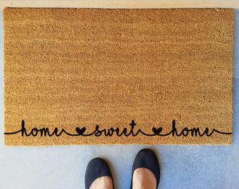 home sweet home custom outdoor mat coir door mat family name door mat