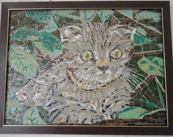 Wall décor of mosaic, made to order, from foto