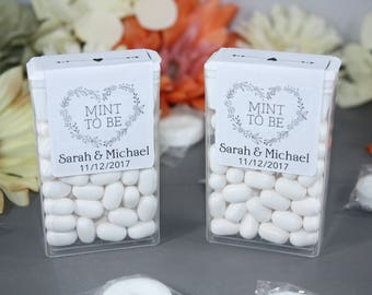 Personalized Mint To Be Tic Tac Labels // Wedding Favors // Engagement Party Favors // Bridal Shower