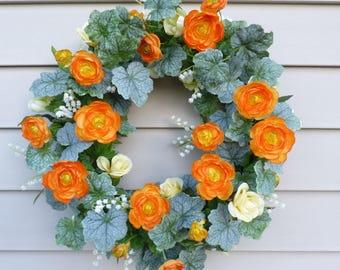 Spring Wreaths Summer Door Wreaths Summer Wreaths for Front Door Wreaths  for Font Door Decorations Year Round Wreaths