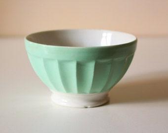 Vintage pastel blue bowl, breakfast bowl, french - 1960's