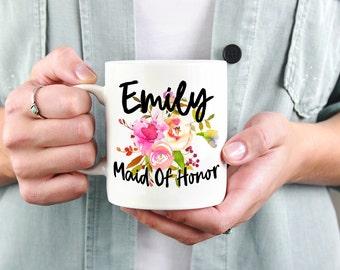 Custom Maid Of Honor Mug,Personalized Bridesmaid Mug,Bridesmaid Mug,Bridesmaid Gift,Bridal Party Mug,Bridesmaid Proposal,Maid Of Honor Mug