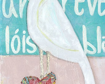 Giclee Print from original painting: L'oiseau Blanc