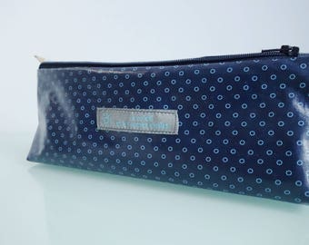 Bag fabric coated Navy-Blue