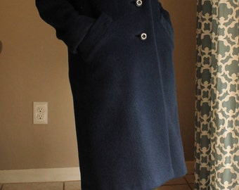 1960's Long Wool Coat -- Neiman Marcus